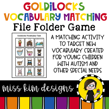 Goldilocks Vocabulary Folder Game for Special Education