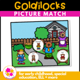 Goldilocks Vocabulary Folder Game for Students with Autism & Special Needs