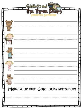 Goldilocks Word Work