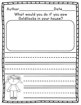 Goldilocks Writing Prompts