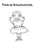 Goldilocks and The 3 Bears Adapted Book (Autism, Speech) BW Workbook