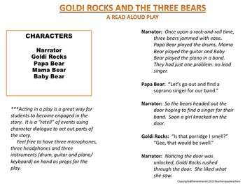 Goldilocks and The Three Bears: Comparing Versions of the Folktale