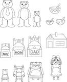 Goldilocks and The Three Bears- DIY Printable Felt Board, Stick Puppet, Craft