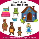 Goldilocks and The Three Bears Inspired Clip Art by Jeanet