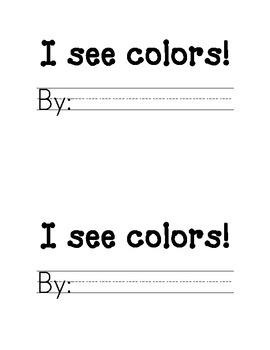 I See Colors Books