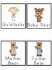 Goldilocks and The Three Bears Picture Word Bank and Pictu