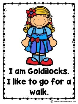 Goldilocks and The Three Bears (Emergent Reader, Lap Book, Picture/Voc. Cards)