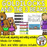 Goldilocks and the Three Bears Word Wall, Masks & Literacy activities