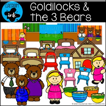 Goldilocks and the 3 Bears Clip Art