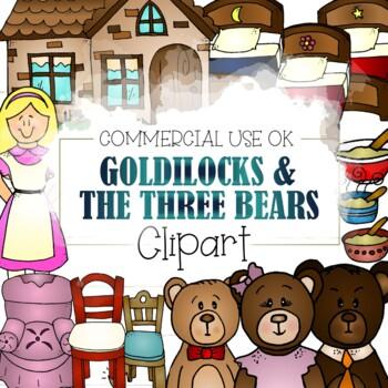 Goldilocks and the 3 Bears Clipart (CU and CU4CU OK)