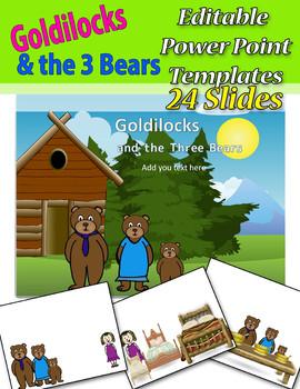 Goldilocks and the 3 Bears Editable PowerPoint Templates Slides