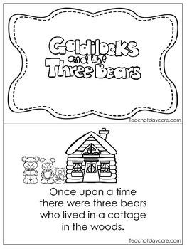 Goldilocks and the 3 Bears Early Fluent Reader.  KDG. 1st