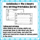 Goldilocks and the 3 Bears Pencil Control Activities pre-writing tracing
