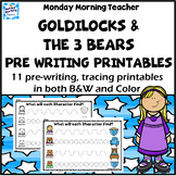 Distance Learning Goldilocks Pencil Control activities pre