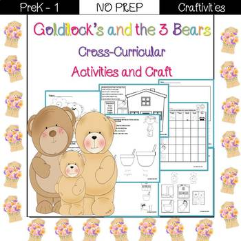 Goldilocks and the 3 Bears cross-curricular activities and craft