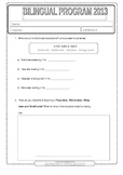 Goldilocks and the 3 Bears worksheet