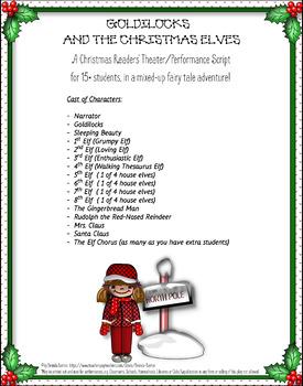 Goldilocks &The Christmas Elves Readers' Theater & Performance Christmas Script