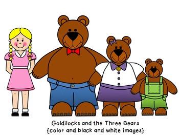 goldilocks and the three bears clip art by busy bee clip art by rh teacherspayteachers com goldilocks and the three bears clipart free Goldilocks and the Three Bears Clip Art Black and White