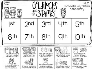Goldilocks and the Three Bears-A Differentiated & CCSS Aligned Fairy Tale Unit
