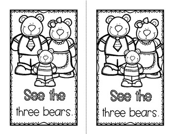 Goldilocks and the Three Bears - A FREE Book for Beginning/Emergent Readers