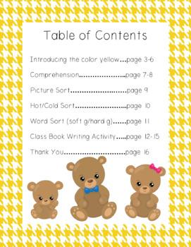Goldilocks and the Three Bears Book Companion (Color Unit Yellow)