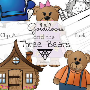 Goldilocks and the Three Bears Clip Art Pack