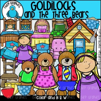Goldilocks and the Three Bears Clip Art Set - Chirp Graphics