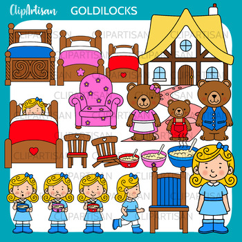 Goldilocks and the Three Bears Clipart,