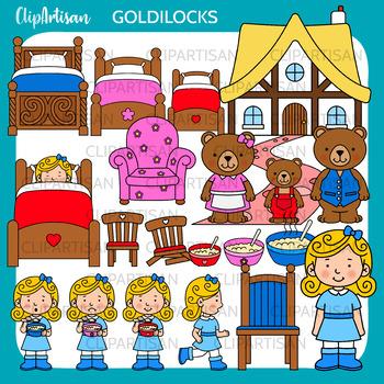 Goldilocks and the Three Bears Clip Art, Fairy Tale Printable
