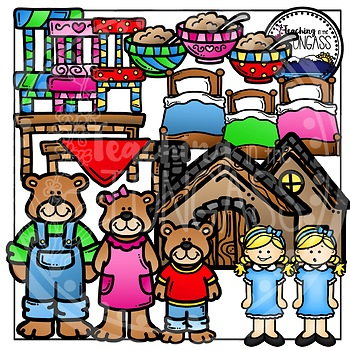 Goldilocks and the Three Bears Clipart Bundle