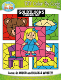 Goldilocks and the Three Bears Color By Code Clipart {Zip-A-Dee-Doo-Dah Designs}