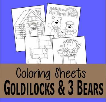 Goldilocks and the Three Bears Coloring Sheets
