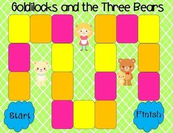 Goldilocks and the Three Bears Comprehension Game Kindergarten