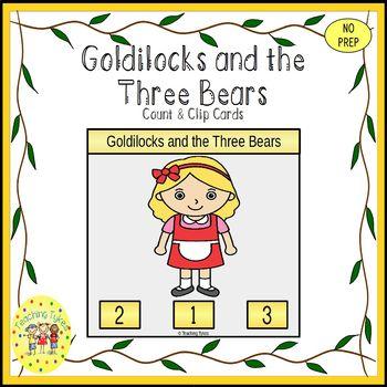 Goldilocks and the Three Bears Clip Task Cards