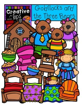 Goldilocks and the Three Bears {Creative Clips Digital Clipart}