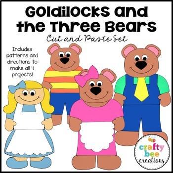Goldilocks and the Three Bears Cut and Paste Set