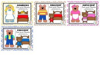 Goldilocks and the Three Bears Craft Bundle