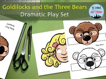 Goldilocks and the Three Bears - Dramatic Play Set - Masks and More!