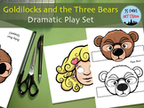 Goldilocks and the Three Bears - Paper Masks & Puppets - Dramatic Play Set
