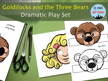 Goldilocks And The Three Bears Paper Masks Amp Puppets