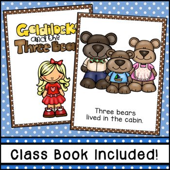 Goldilocks and the Three Bears Emergent Reader (Distance Learning)