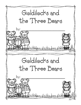 Goldilocks and the Three Bears Emergent Reader {Freebie}