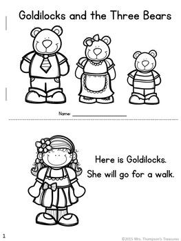 Goldilocks and the Three Bears Emergent Readers