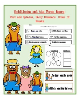 Goldilocks and the Three Bears Activities and Printables