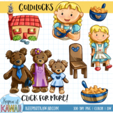 Goldilocks and the Three Bears Fairy Tale Clip Art Set