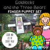 Goldilocks and the Three Bears Fairy Tale Finger Puppet Retelling Set