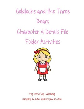 Goldilocks and the Three Bears File Folder Activities