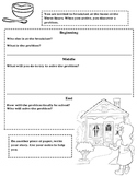 Goldilocks and the Three Bears Graphic Organizer for Narrative Writing