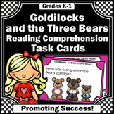 Goldilocks and the Three Bears Comprehension Questions Task Cards