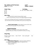 Goldilocks and the Three Bears Guided Reading Lesson Plan